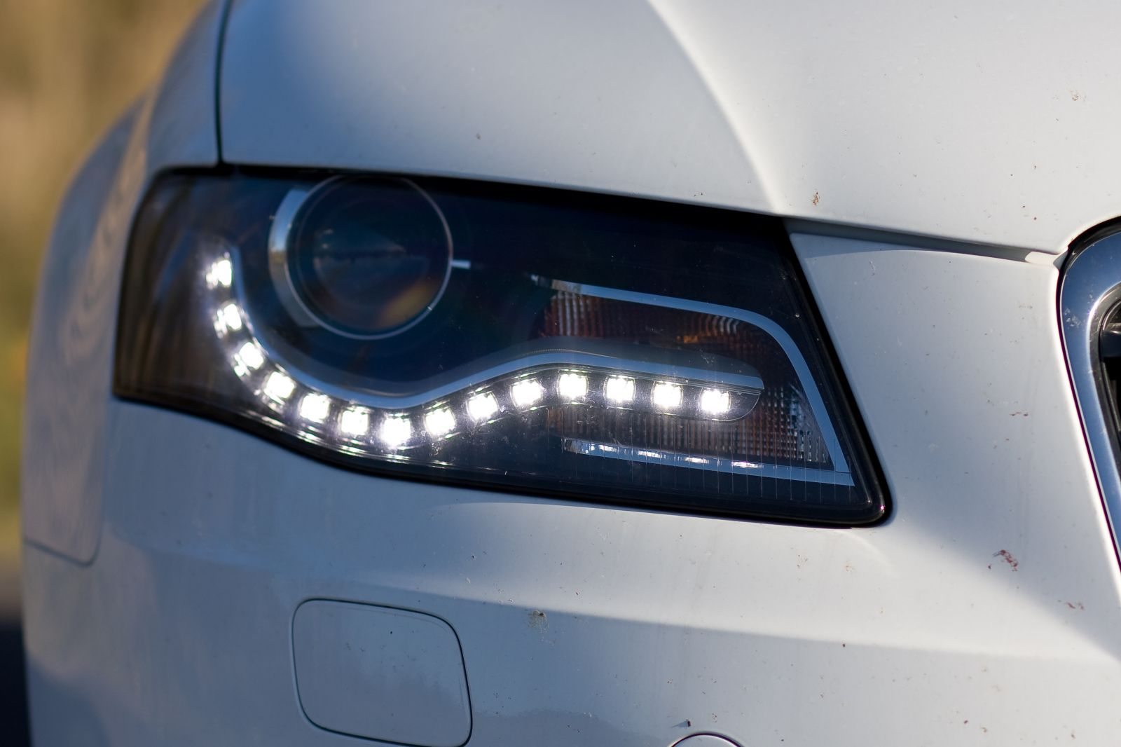 These bright lights could potentially blind other drivers. In theory, daytime  running lights should be dim in comparison to your headlights, but this  isn't ...