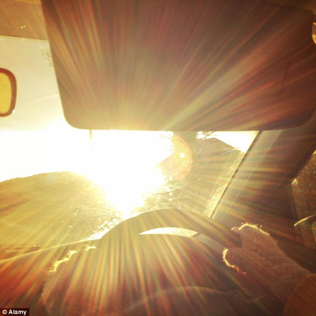 Image result for driving with low sun