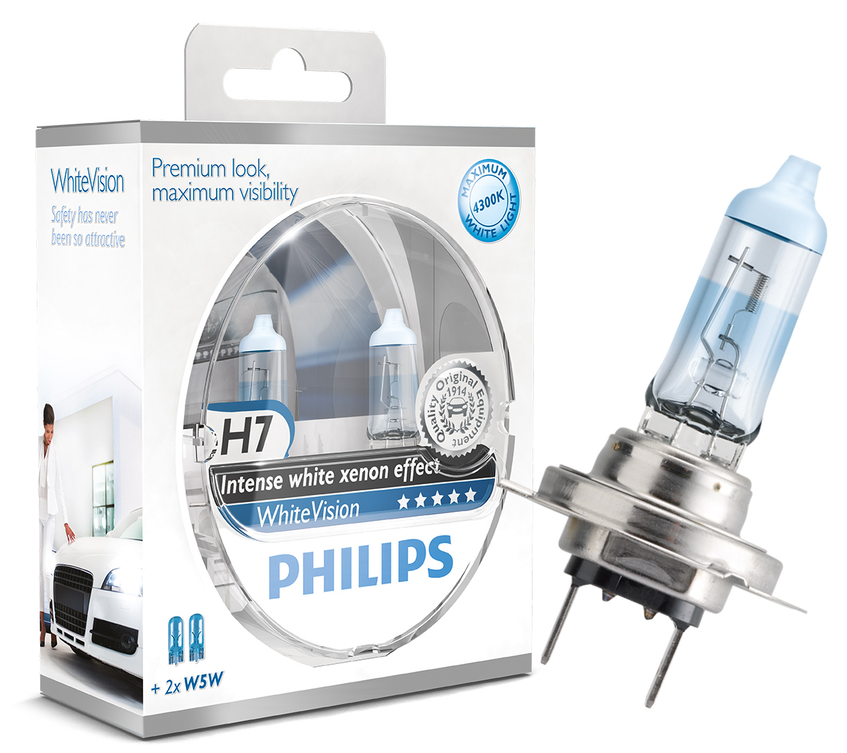 what s the difference between philips whitevision and philips blue vision ultra powerbulbs. Black Bedroom Furniture Sets. Home Design Ideas
