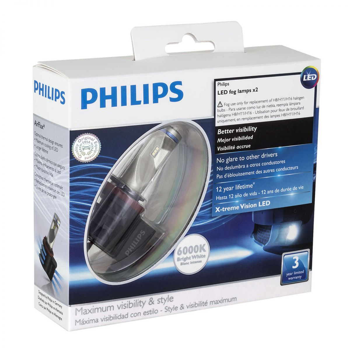 philips x treme vision led fog lamps information review. Black Bedroom Furniture Sets. Home Design Ideas