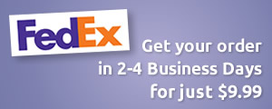 FedEx - Get your order in 2-4 business days for just $9.99